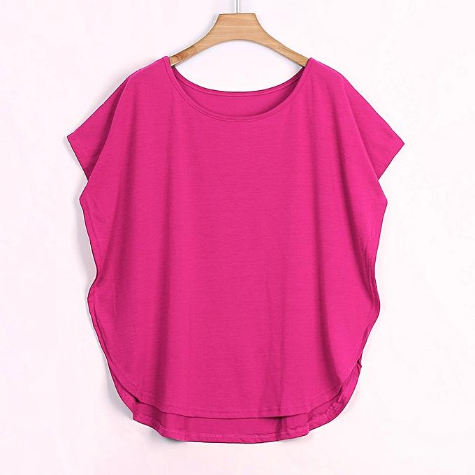 67b477b58df097 birthpar store Women Basic Summer T-Shirt Tops Short Sleeve Batwing sleeve  Ladies Blouse-