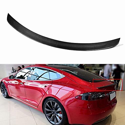 Carbon Fiber Trunk Lip Spoiler For Tesla Model S 12 13 14 15 16 17 Matt  Finished