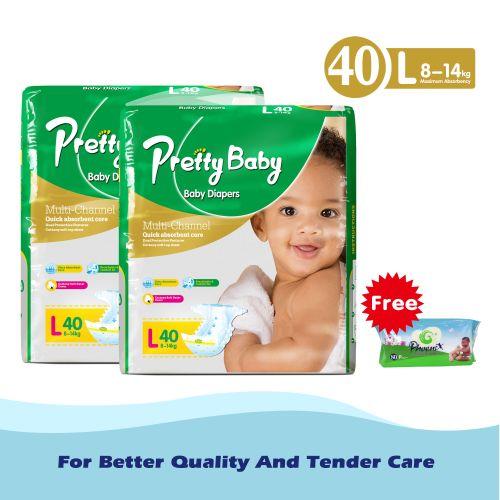 Disposable diaper size 4, L40*2 +phoenix wipes 80pcs free