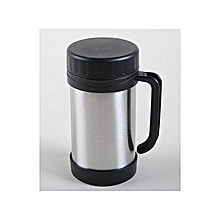 Vacuum Insulated Stainless Steel Travel Mug Cup/Food soup Jar.Heated Vacuum Thermos.Thermos for hot food/soup/coffee.Leak-proof and light weight 0.5L