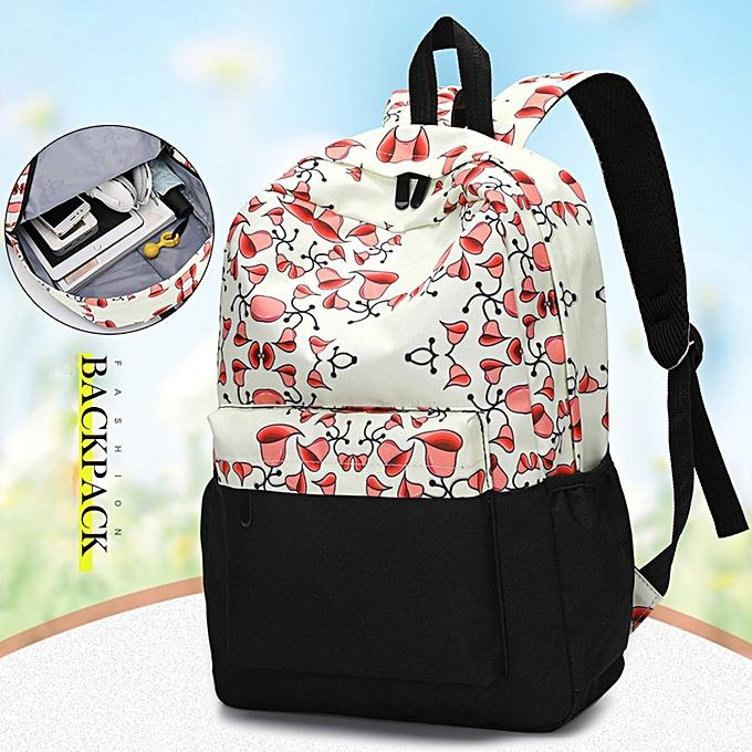 guoaivo Fresh Style Women Backpacks Floral Print Bookbags Female Travel  Backpack 0780aab8b8