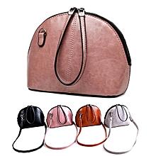 Women PU Leather Fashion Minimalist Crossbody Bag Shoulder Bag Solid Casual Shell Bag