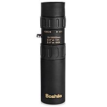 Boshile Roof BAK - 4 Prism 10 - 100 X 32 Telescopic Monocular For 0.5 - 3000m Distance - Black