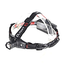 XM - T6 389LM 3 File Mini Retractable Headlamp-Black