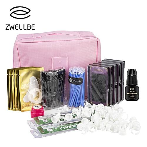 a794c9a6c91 Generic Professional Training False Eyelashes Extension Set Grafting Eye  Lashes Practice Eye Pads Tweezers Glue Ring Brush Kits With Bag