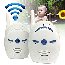 2.4GHz Wireless Infant Baby Monitor Portable Audio Walkie Talkie Kit Phone Alarm # US
