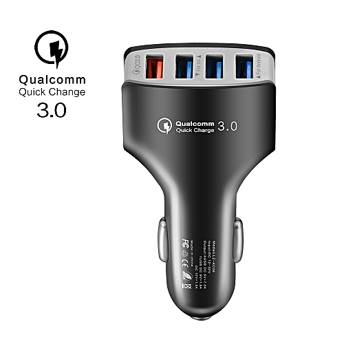 low priced d71f1 cd396 4 USB Car Charger Qualcomm Quick Charge 3.0 USB Charger Mobile Phone Charge  for Samsung S8 S7 iPhone X 8 Charger