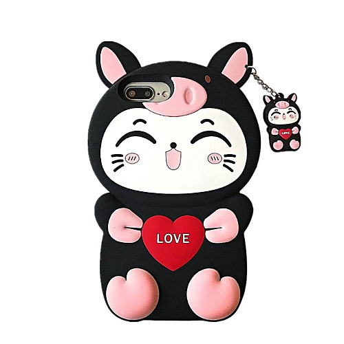 best website 231aa f67d9 Phone Case For OPPO A3s,3D Love Cat Design Lucky Cat Kitty Silicone Rubber  Phone Case Cover For OPPO A3s