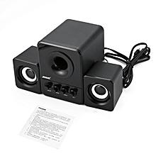 SADA D-203 Bluetooth Computer Speaker Stereo Portable Multimedia Laptop black