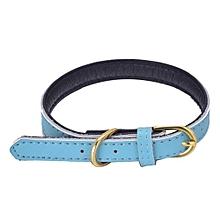 Pet Collar Puppy Choker Cat Necklace Blue/XS