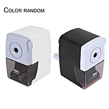 Deli Metal Pencil Sharpener Student Office Pencil Cutting Machine 0610B-black & White