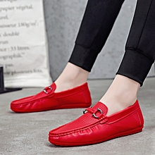 Loafer For Men Casual Moccasins Male Shoes (Red)