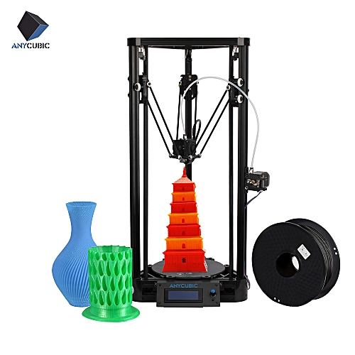 Anycubic Kossel Pulley Delta Desktop FDM Metal 3D Printer DIY Kit Support  Auto Leveling Large Printing Size 180 * 320mm Fast Speed High Accuracy LCD