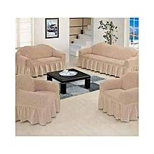 Sofa Seat Covers – 3+2+1+1 – Coffee In Milk