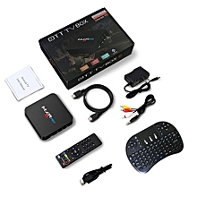 MXR PRO Smart TV Box 4GB+32GB Android 7.1 2.4GHz Player with 3 Colors Keyboard black