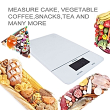 LCD Display Precision Household Kitchen Scales Are Intelligent Vegetable & Fruit-White
