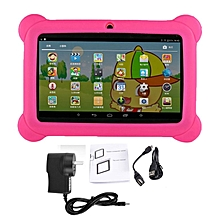 7 inch Children Kids Tablet 2G+16G Dual Camera Tablet With Cover for Android pink