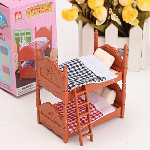 Universal 1 12 Dollhouse Miniature Furniture Plastic Bunk Bed