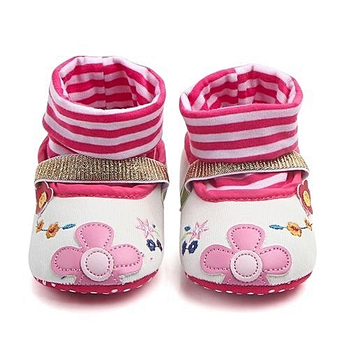 9bf55f0466eb YiQu bluerdream-Lovely Toddler First Walkers Baby Shoes Round Toe Flats  Soft Slippers Shoes -As Shown
