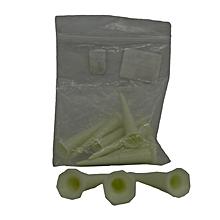 Tees Plastic 2 1/8'' (pkt 10)- White-