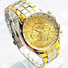 Luxury Men Roman Numerals Watches Metal Analog Quartz Fashion Wrist Watch