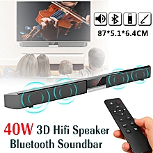 40W LED Display 3D Surround Sound Wireless Bluetooth 4.0 Speaker Soundbar Wall Mounted Home Audio Speaker With Remote Control/ Optical/ 3.5mm For Home Theater