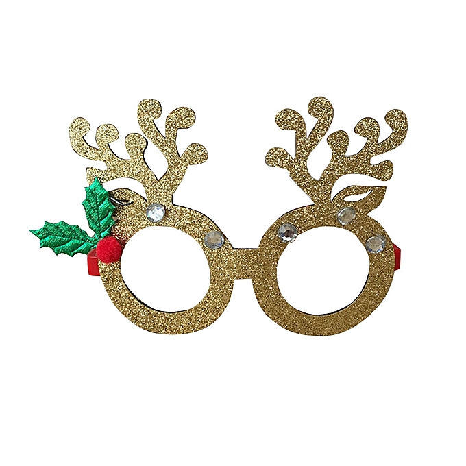 Buy Generic Christmas Glasses Frames Eyeglass Eye Decor Sequin ...