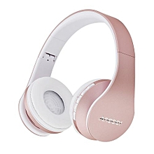Best-selling LH-811 Digital 4 In 1 Multifunctional Wireless Stereo Bluetooth 4.1 + EDR Headphone Earphone Headset & Wired Earphone With Mic MP3 Player MicroSD / TF Music FM Radio Hands-free For Smart Phones Tablet PC Notebook  Rose Gold