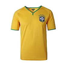 Brazil Home Jersey For Men (Yellow)