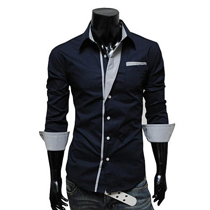 6f6f1d25 New Stylish Stripes Decoration Stylish Men's Long Sleeves Shirt