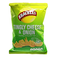 Tingly Cheese & Onion Potato Crisps - 30g