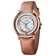 Quartz watch fashion bracelet watch fashion female form 546m  (Gold&Beige)