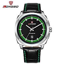 Watches, 80208 Man Splendid New Luxury Fashion Leather Quartz Analog Watches Casual Cool Watch Brand Men Watches Waterproof - Black