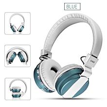 Wireless Bass Bluetooth Headphone Headset Earphone NFC FM SD AUX For IPhone X 8 Blue