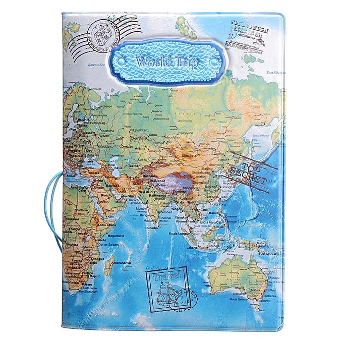 World Map Passport Holder.Buy Generic Leather World Map Passport Holder Organizer Travel Card
