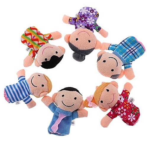 6pcs Baby Kids Gifts Toy Family Finger Puppets Play Game Tell Story Plush Cloth