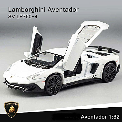 Generic New Lamborghini Aventador Sv Lp750 4 Pull Back Toy Cars 1 32