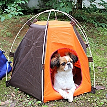 huskspo Portable Folding Pet Tent Dogs Cats Bed House Play Fun Indoor Outdoor Waterproof
