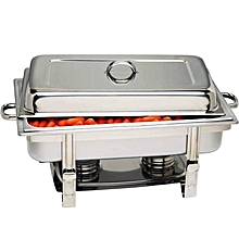 Signature Chafing Dish Stainless Steel Single Tray Buffet Catering - Silver .