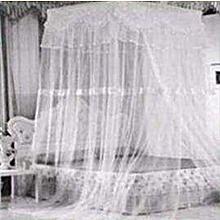 Square Top Decker mosquito net- Free Size- White