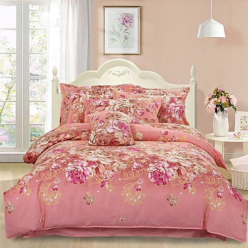 Home 1.8M Bed Supplies Printing Four Piece Set Quilt Cover Bed Sheet Pillow