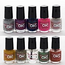 Pack V9 - Glitzy mixed nail colors