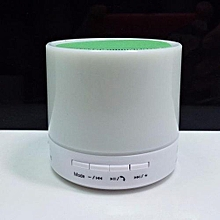 S71U Touch LED Light Mini Bluetooth Speaker with TF USB Surround loud Speaker wireless Speaker(Green)