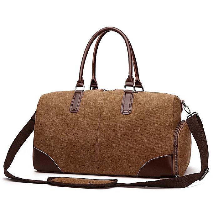 8b7672efb 2018 New Fashion Travel Bag Large Capacity Men Hand Luggage Travel Duffle  Bags Canvas Weekend Bags
