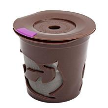 2Pcs/Set Reusable Refillable K-Cup K-Carafe Filter For Keurig 2.0 Brewers Brown