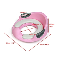 Children Baby Toilet Seat Padded Double Handrail Soft Kid Training Potty Cushion