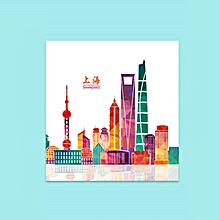 Greeting Cards Painting Shanghai Handmade Festival Postcard Papercraft color printing