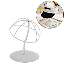 White Stable Durable Iron Wig Hair Rack Hat Holder Display Stand Size S/M/L