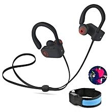 Headsets, Wireless Bluetooth Headset U8 with Mic Sport Sweatproof Super Bass Headphones(Black)