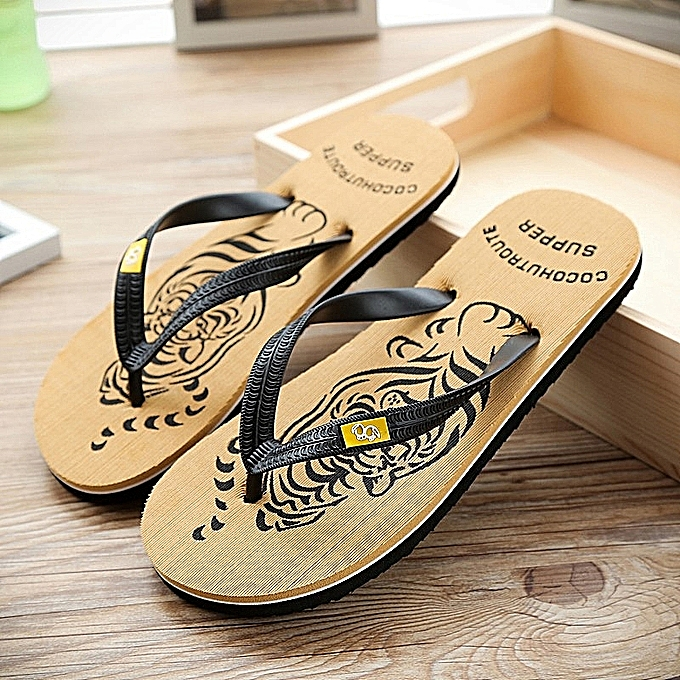 dc6ecf05b Fashion 2019 Women's Men's Antiskid Flip-flops Leisure Summer Cool Slippers  Beach Sandals-Brown